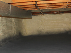 crawl space spray insulation for Maine